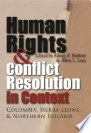 Human Rights   Conflict Resolution in Context