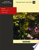 Poems (Volume 1 of 2 ) (EasyRead Super Large 18pt Edition)