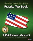 Pennsylvania Test Prep Practice Test Book Pssa Reading Grade 3