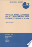 Storage  Trade  and Price Policy Under Production Instability