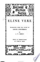 Eline Vere. Een Haagsche Roman.