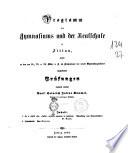 Programm des Anmnaliums und der reallchule in Bittan  momit     prof  Heinrich Iulius R  mmel