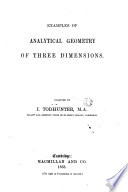 Examples of Analytic Geometry of Three Dimensions