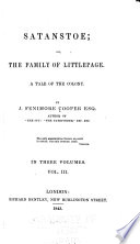 Satanstoe  Or  The Family of Littlepage