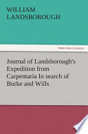 download ebook journal of landsborough's expedition from carpentaria in search of burke and wills pdf epub