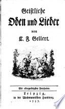 Geistliche Oden Und Lieder