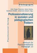 Professionalisierung in sozialen und pädagogischen Feldern