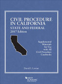 Civil Procedure in California