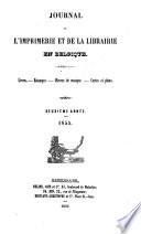Journal de l imprimerie et de la librairie en Belgique