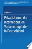Privatisierung der internationalen Verkehrsflughäfen in Deutschland