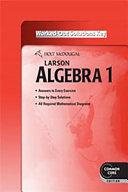 Holt McDougal Larson High School Math Common Core