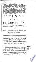 Journal g  n  ral de m  decine  de chirurgie et de pharmacie franc  aises et   trangeres  ou  Recueil p  riodique de la Soci  t   de m  decine de Paris