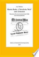 """Martin Rades """"Christliche Welt"""" und Armenien"""