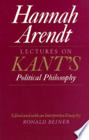 Lectures on Kant s Political Philosophy