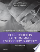 Core Topics In General Emergency Surgery E Book