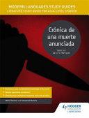Modern Languages Study Guides  Cr  nica de Una Muerte Anunciada