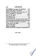 Games of Whist  Quadrille Piquet quinze Vingt un