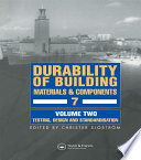 Durability of Building Materials   Components 7