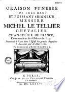Oraison funèbre de..... Michel Le Tellier... par Monsieur l'abbé Maboul. [Paris, Grands Augustins, 2 mars 1686]