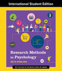 Research Methods In Psychology Evaluating A World Of Information Fourth International Student Edition