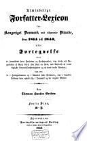 Almindeligt Forfatter-Lexikon for Kongeriget Danmark met tilhørende Bilande, fra 1814 til 1840