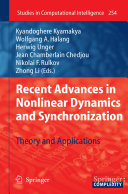 Recent Advances in Nonlinear Dynamics and Synchronization