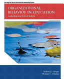 Organizational Behavior in Education: Leadership and School Reform