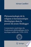 illustration Phénoménologie de la religion et herméneutique théologique dans la pensée du jeune Heidegger