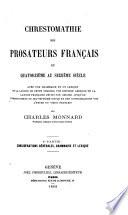 Chrestomathie des prosateurs français du 14e au 16e siècle, avec une grammaire et un lexique de la langue de cette période