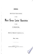 Annual Report   The Mount Vernon Ladies  Association of the Union