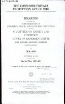 The Consumer Privacy Protection Act of 2002