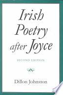 Irish Poetry After Joyce