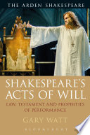 Shakespeare s Acts of Will