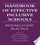 Handbook of Effective Inclusive Schools