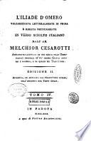 L Iliade d Omero volgarizzata letteralmente in prosa e recata poeticamente in verso sciolto italiano dall ab  Melchior Cesarotti ampiamente illustrata     Tomo 1    10