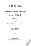 Hausgesetz im Geschlechte der Grafen und Herren von Giech