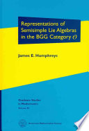 Representations Of Semisimple Lie Algebras In The Bgg Category O book