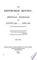 Edinburgh Review  Or  Critical Journal