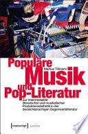 Popul  re Musik und Pop Literatur