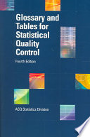 Glossary and Tables for Statistical Quality Control