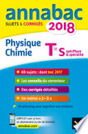 Annales Annabac 2018 Physique chimie Tle S