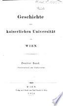Geschichte der kaiserlichen Universität zu Wien