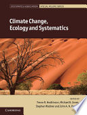 Climate Change, Ecology And Systematics : continue to do so in the...