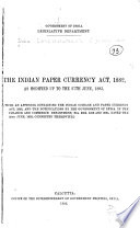 The Indian Paper Currency Act  1882