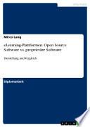 eLearning Plattformen  Open Source Software vs  propriet  re Software