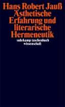 sthetische Erfahrung und literarische Hermeneutik