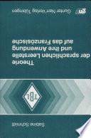 Theorie der sprachlichen Leerstelle und ihre Anwendung auf das Franz  sische