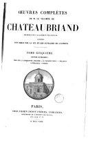 Book Oueuvres complétes de M. le Vicomte de Chateaubriand...,5