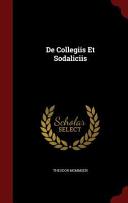 De Collegiis Et Sodaliciis