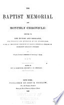 The Baptist Memorial and Monthly Chronicle
